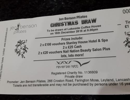 Christmas Charity Raffle in aid of Reverse Rett – Winning tickets