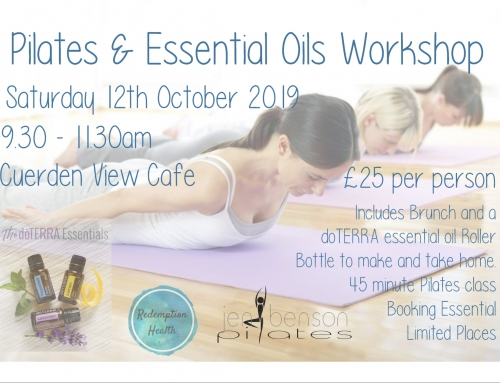 Pilates and Essential Oils Workshop 12th October 2019 – Tickets on Sale NOW